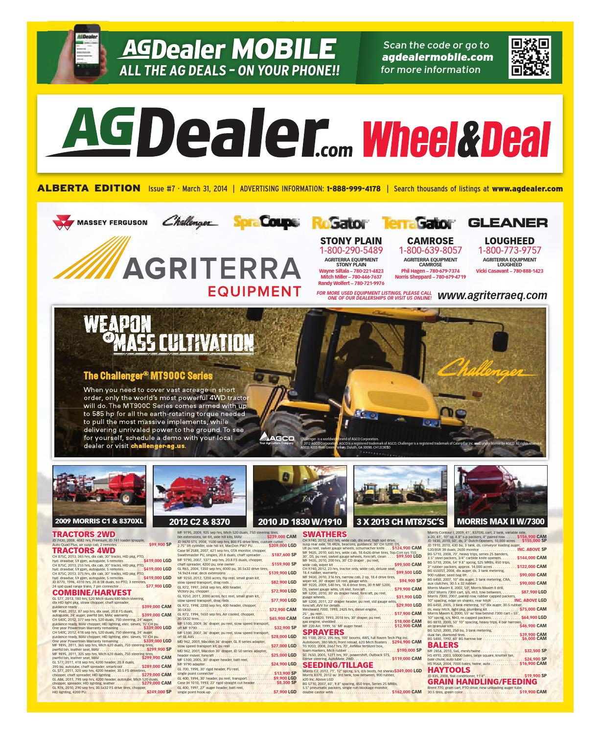 Wheel Amp Deal Alberta March 31 2014 By Farm Business Titan Toro 5200 Wiring Diagram Communications Issuu