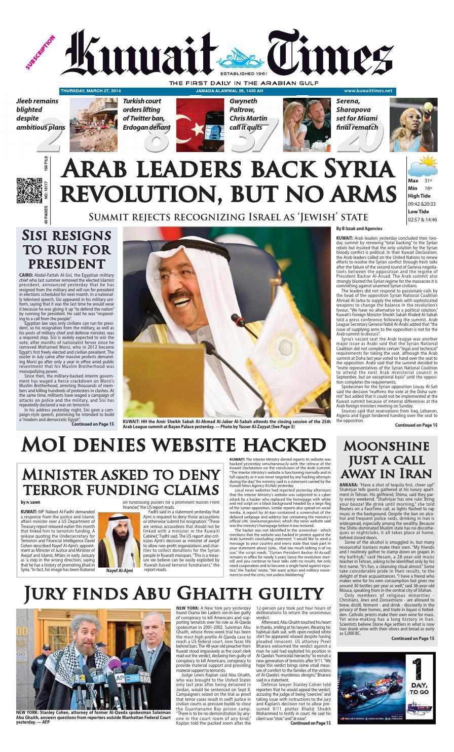 64f84f68cc6 27 Mar by Kuwait Times - issuu