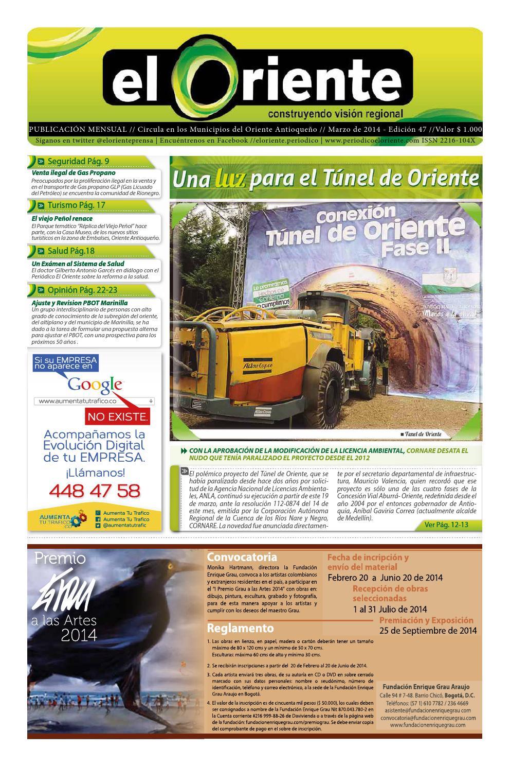 Periódico El Oriente edición 47 marzo 2014 by Periódico El Oriente ...