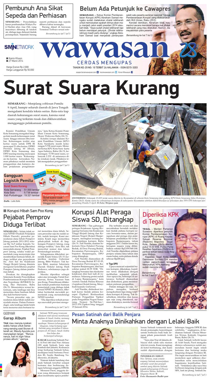 Wawasan 27 Maret 2014 By Koran Pagi Issuu Produk Ukm Bumn Dompet Double Bordir Rikaamp039s