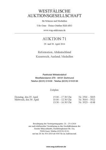 WAG Auktion 71 by WAG - issuu
