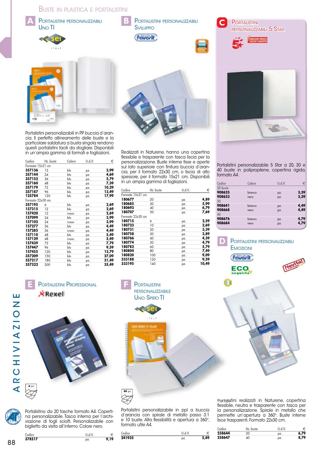 bianco 5 Star 908641 Portalistini personalizzabili 5 Star 30 buste codice 908641