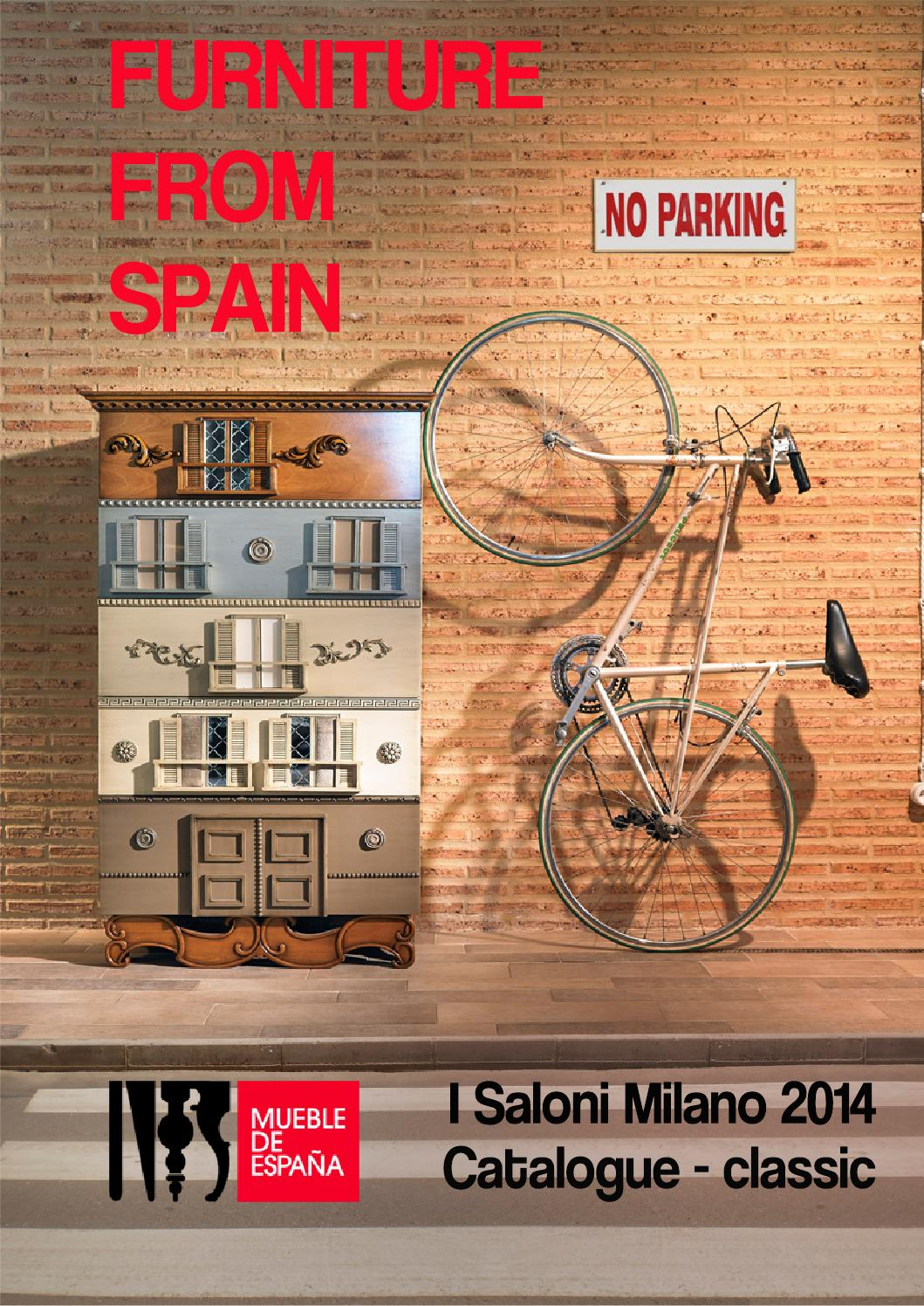 Catalogue I Saloni Milano 2014 Spain S Classic Furniture By  # Muebles Canella