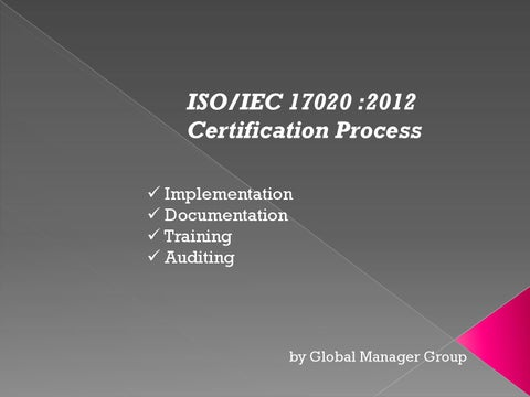 ISO/IEC 17020 certification process by iso17025consultant - issuu