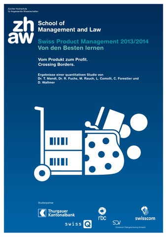 Studie Swiss Product Management 2013/2014 by ZHAW School of ...