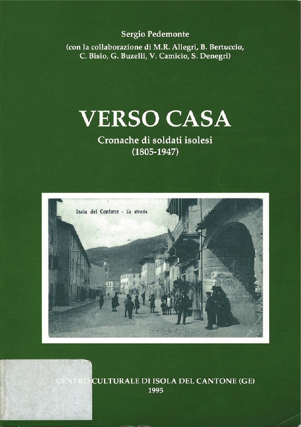 Verso Casa di Sergio Pedemonte by Zonderwater Pow - issuu 3789e2756f5db