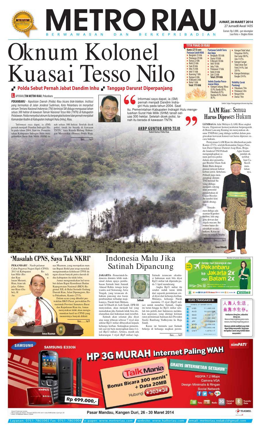 280314 By Harian Pagi Metro Riau Issuu Produk Ukm Bumn Ring Berlian Eropa