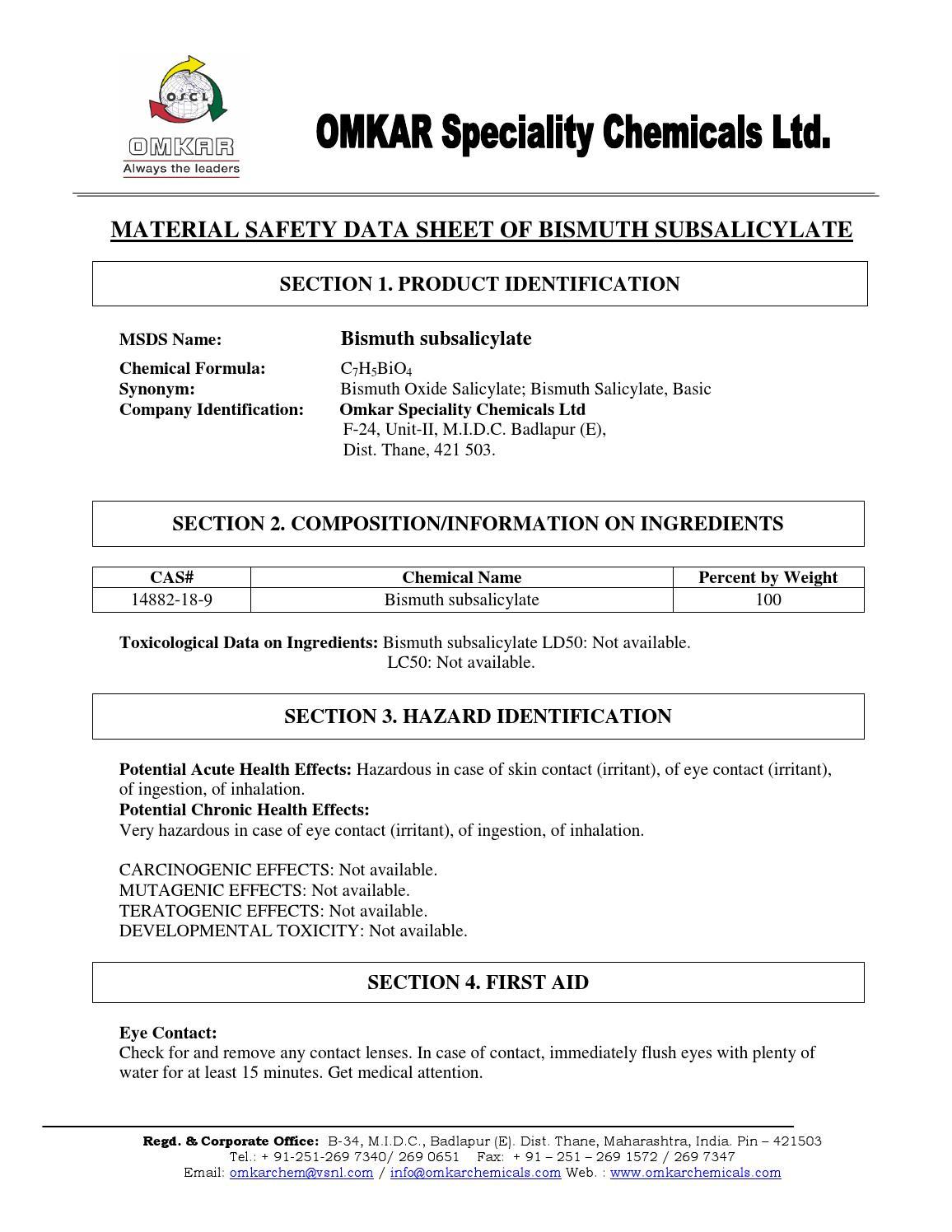 Bismuth subsalicylate by lasalabs issuu buycottarizona