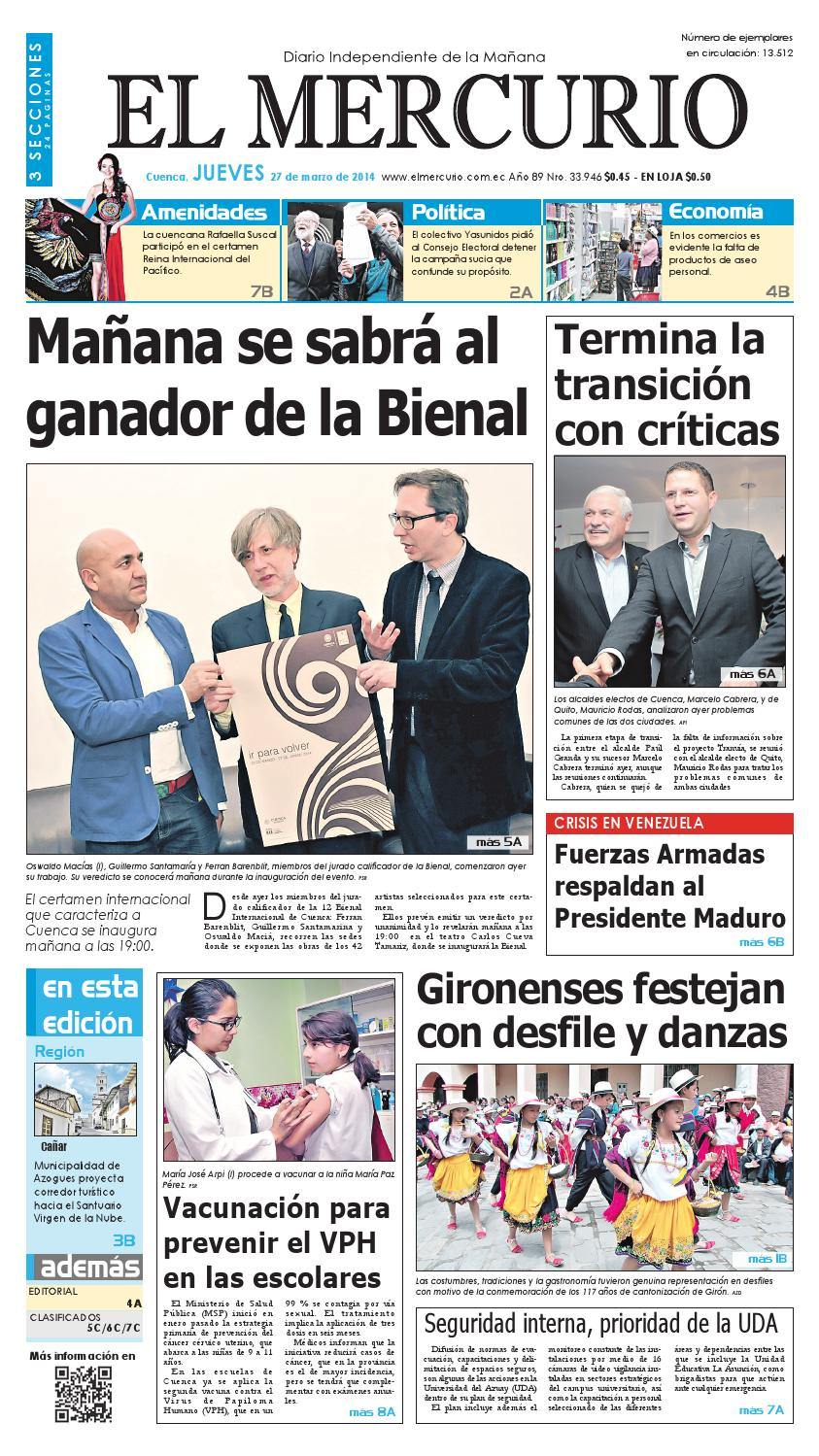 187379d286 hemeroteca 27-03-2014 by Diario El Mercurio Cuenca - issuu