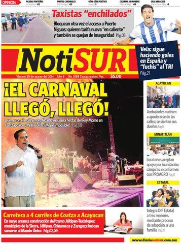 7eb1982c NotiSUR 28 de marzo 2014 by Diario NotiSUR Coatzacoalcos 2014 - issuu
