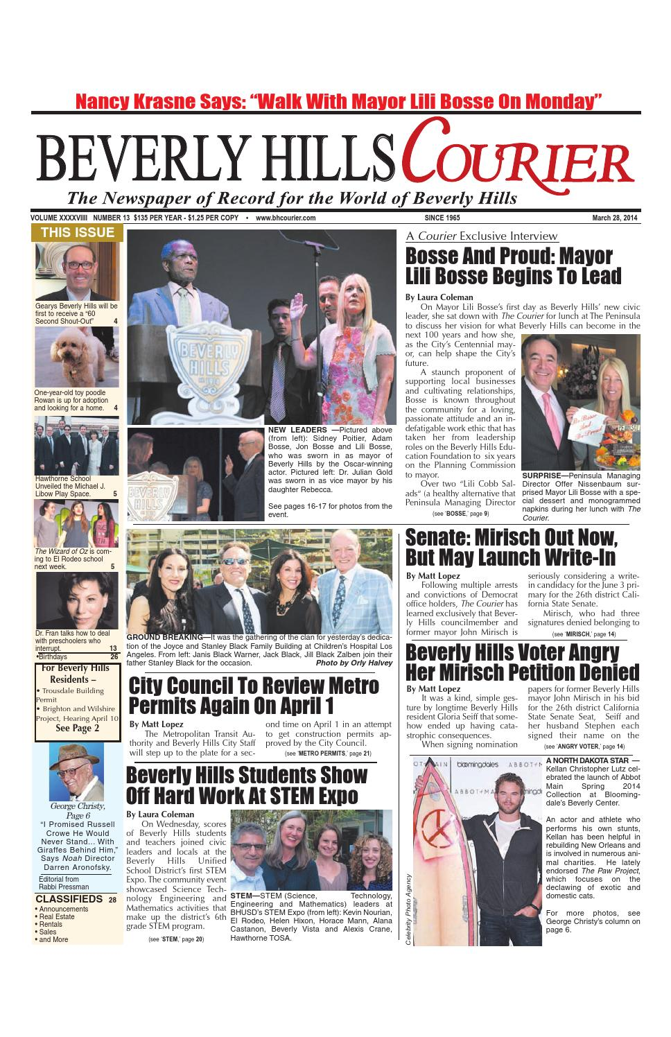 BHCourier 03-28-2014 E-edition by The Beverly Hills Courier - issuu