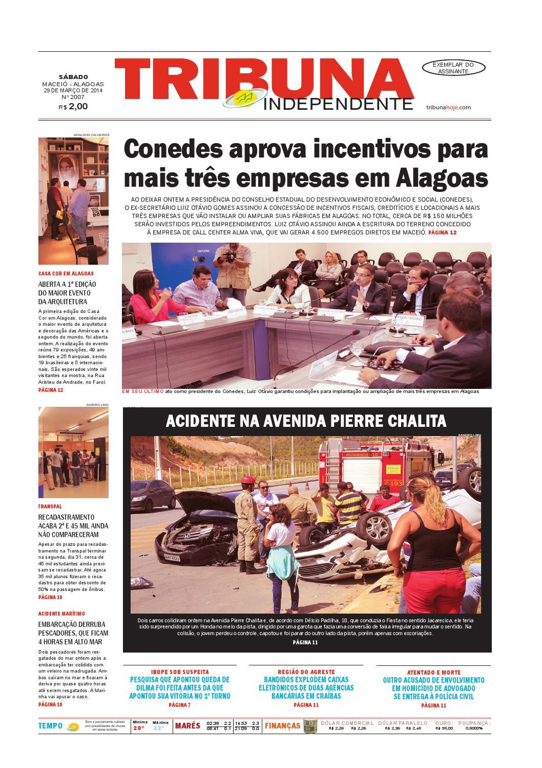 0ab700a4e3d63 Edição número 2007 - 29 de março de 2014 by Tribuna Hoje - issuu