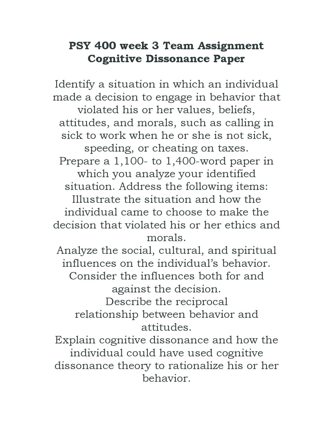 assignment on cognitive dissonance Posts about cognitive dissonance written by online academic writing company, essay writing, essay help, thesis help, assignment help tag: cognitive dissonance.