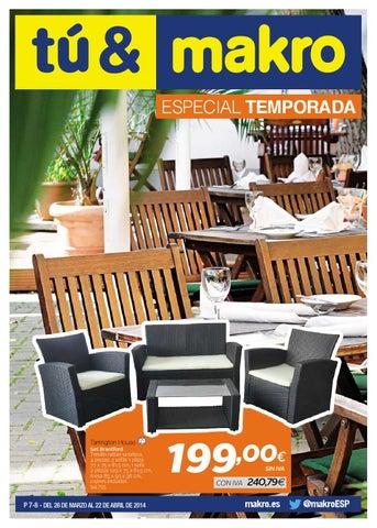 Makro espana ofertas especial temporada peninsula by for Makro muebles jardin