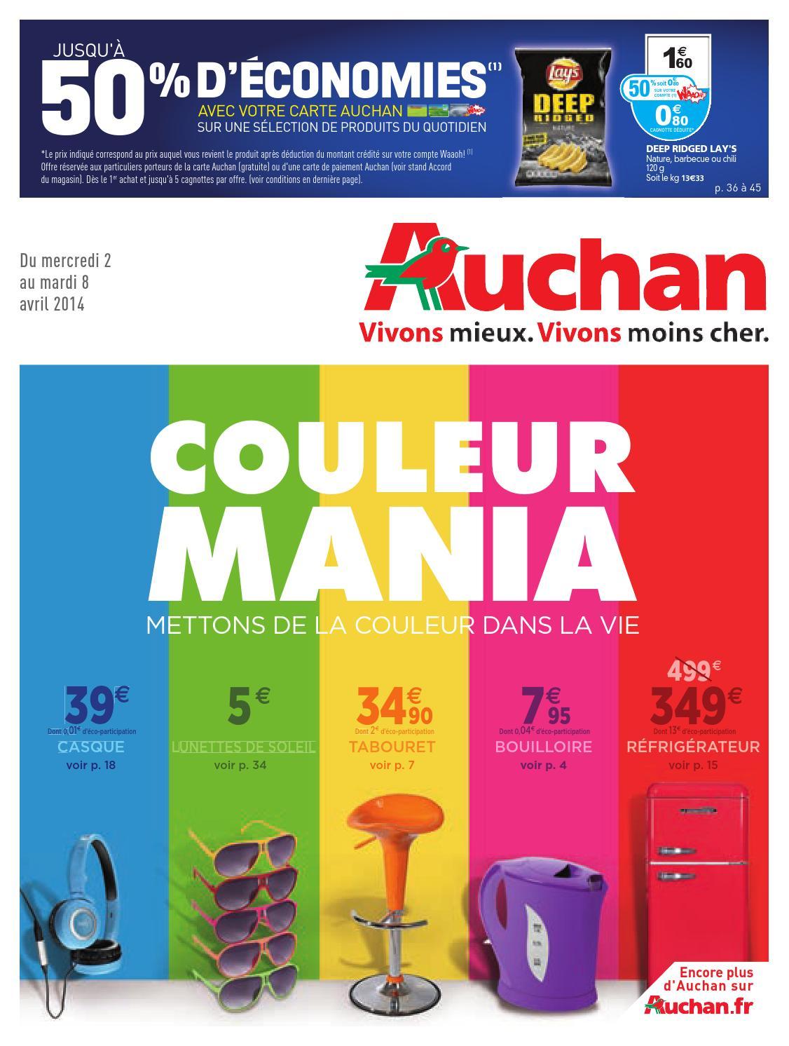 guetter réduction jusqu'à 60% design distinctif Catalogue Auchan du 2 au 8 avril by Anti-Crise.fr - issuu