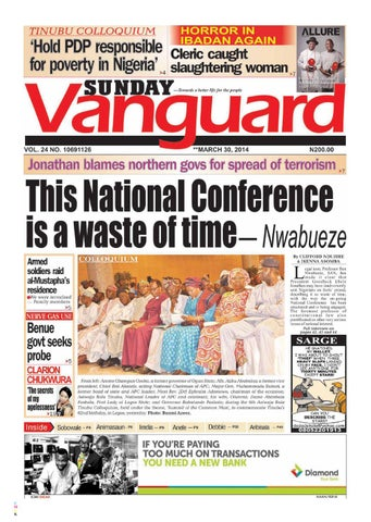 Jonathan Blames Northern Govs For Spread Of Terrorism This National