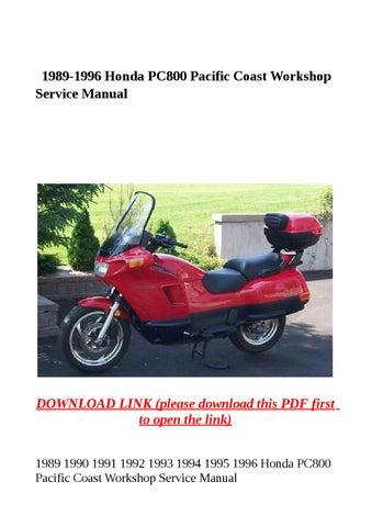 1989 1996 honda pc800 pacific coast workshop service manual by yhkj - issuuIssuu