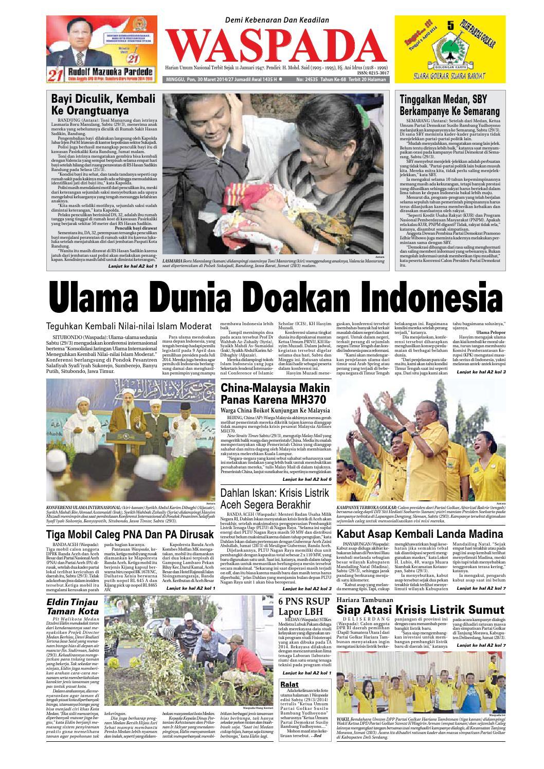 Waspada Minggu 30 Maret 2014 By Harian Waspada Issuu