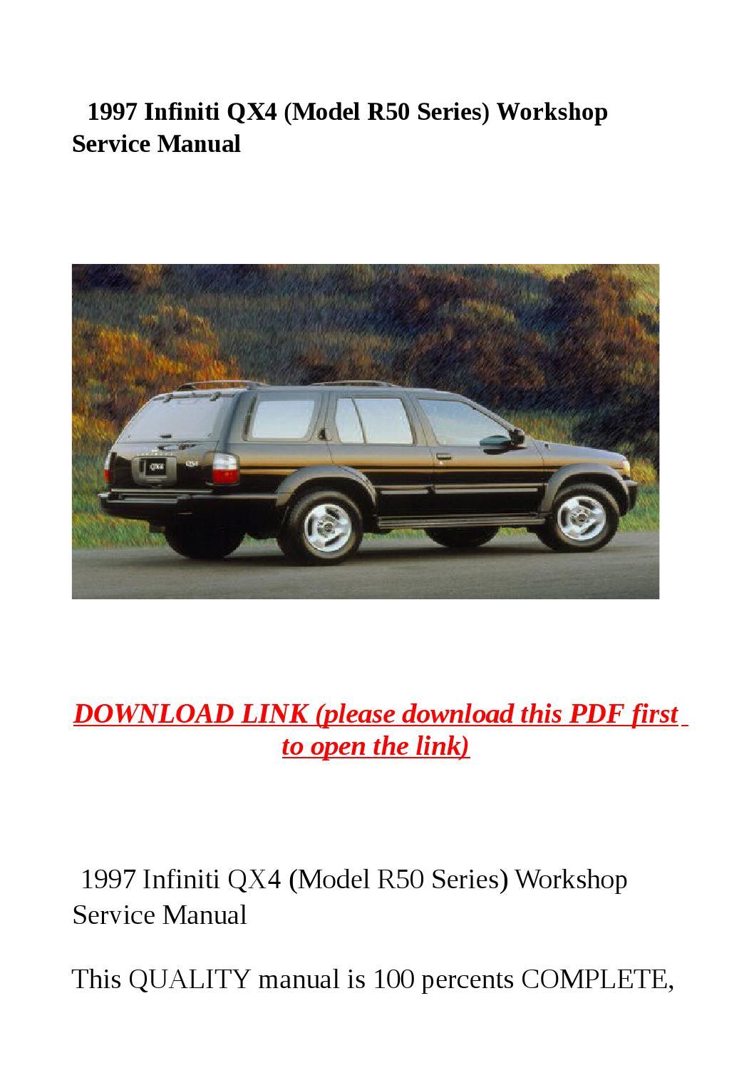 1997 infiniti qx service manual service manual pdf. Black Bedroom Furniture Sets. Home Design Ideas