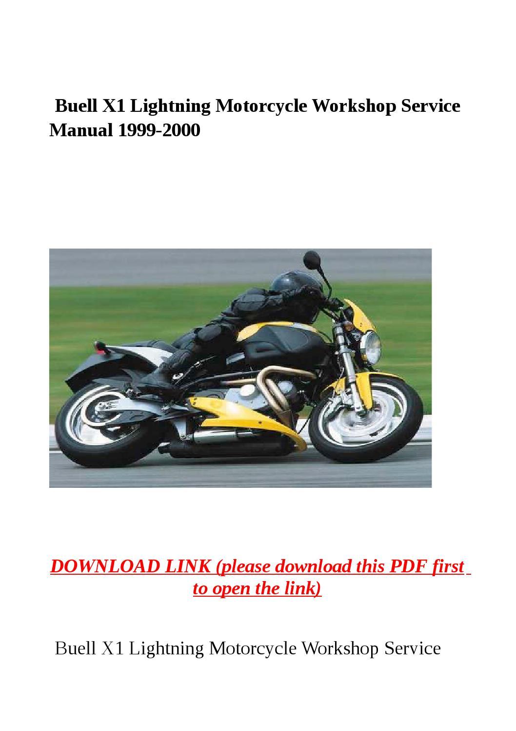 Buell X1 Lightning Motorcycle Workshop Service Manual 1999 border=
