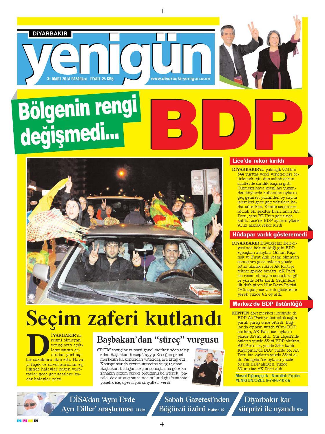Diyarbakir Yenigun Gazetesi 31 Mart 2014 By Osman Ergun Issuu