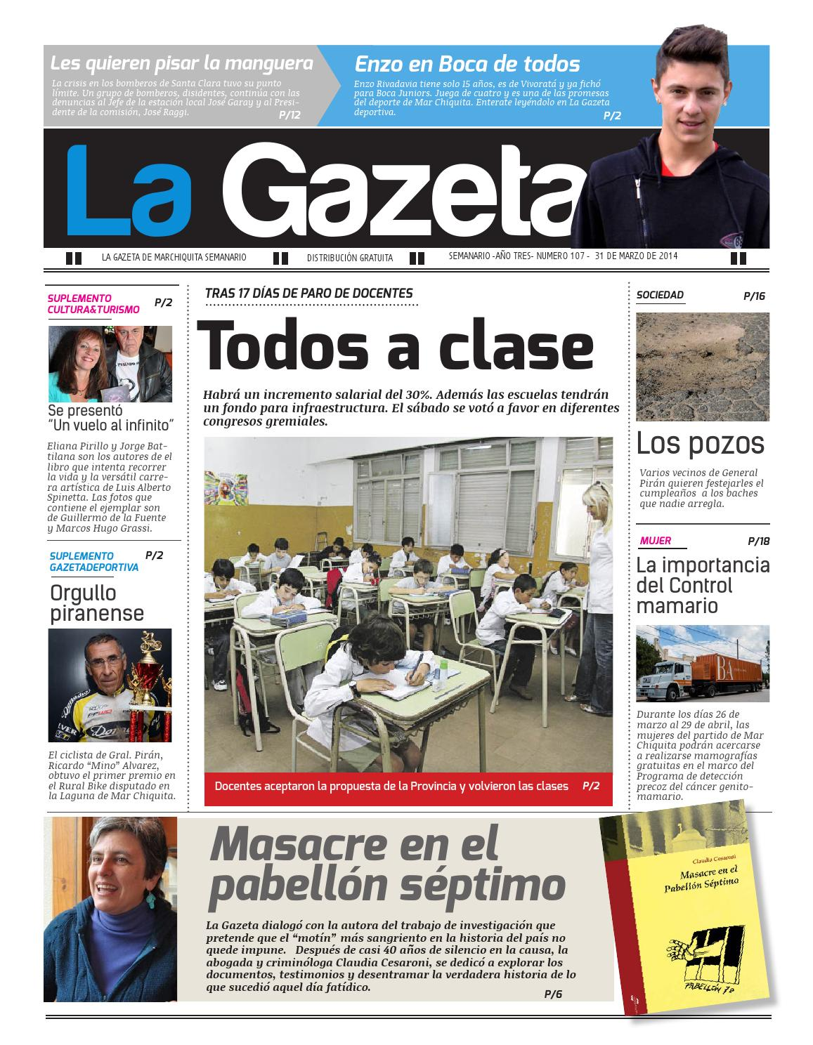 La Gazeta 31/03/2014 by La Gazeta Mar Chiquita - issuu