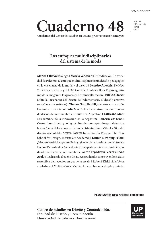 Cuaderno n48 journal final copy by Parsons School of Fashion - issuu
