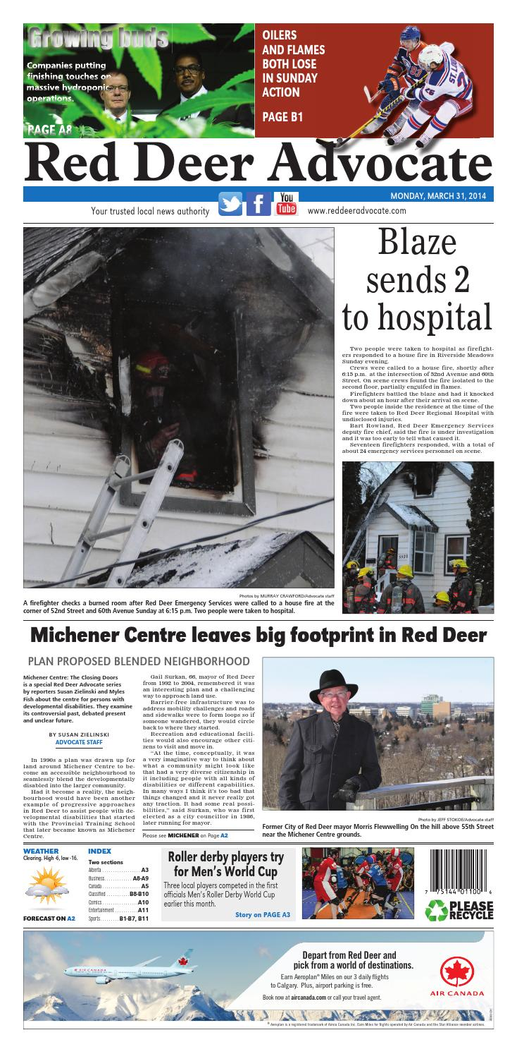 Red Deer Advocate, March 31, 2014 by Black Press Media Group