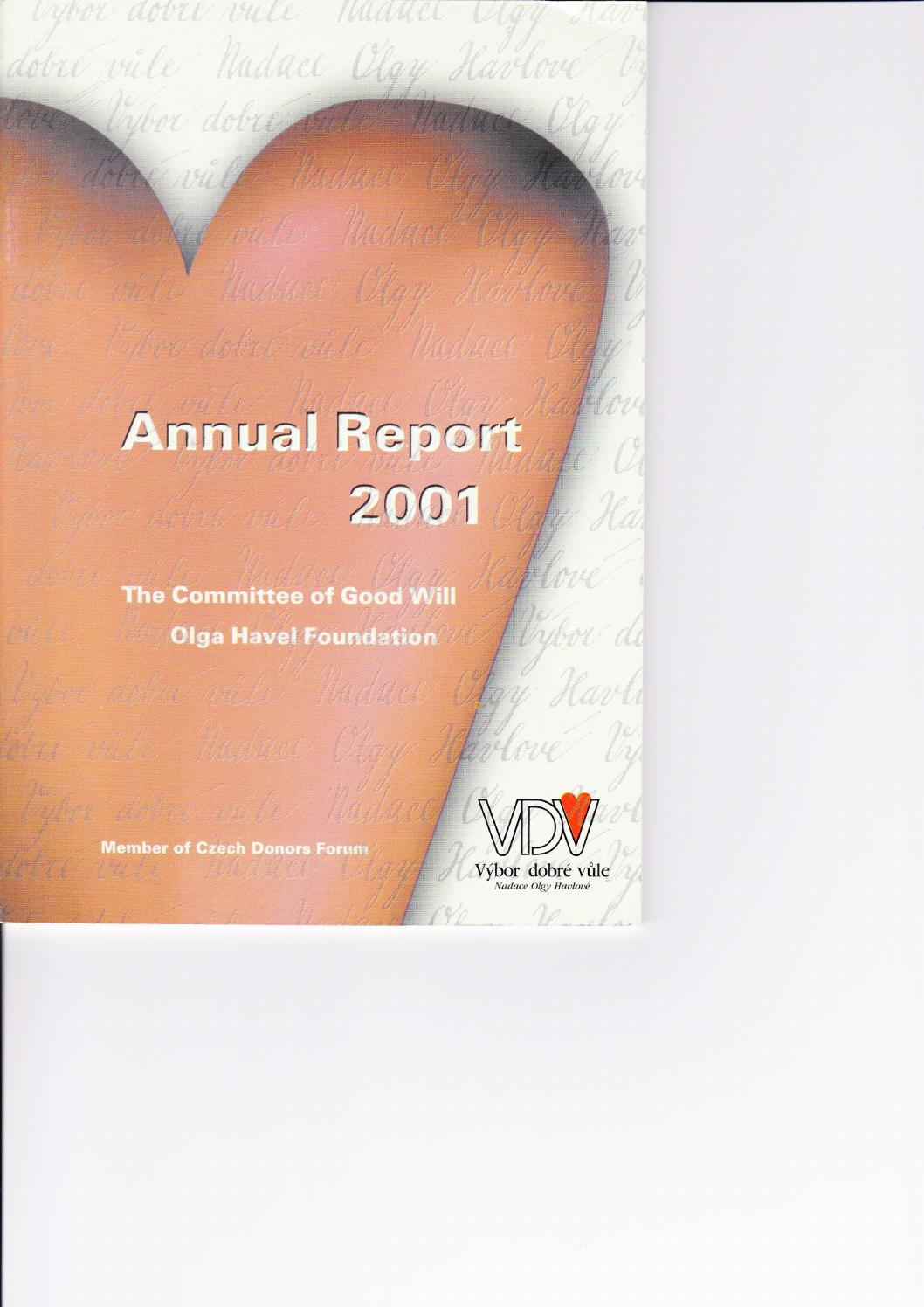 Annual Report of the Olga Havel Foundation
