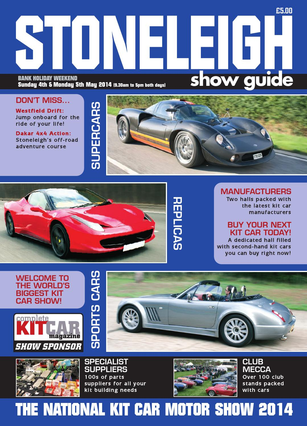 Stoneleigh National Kit Car Show Guide By Panda Creative Ltd - Sports cars manufacturers