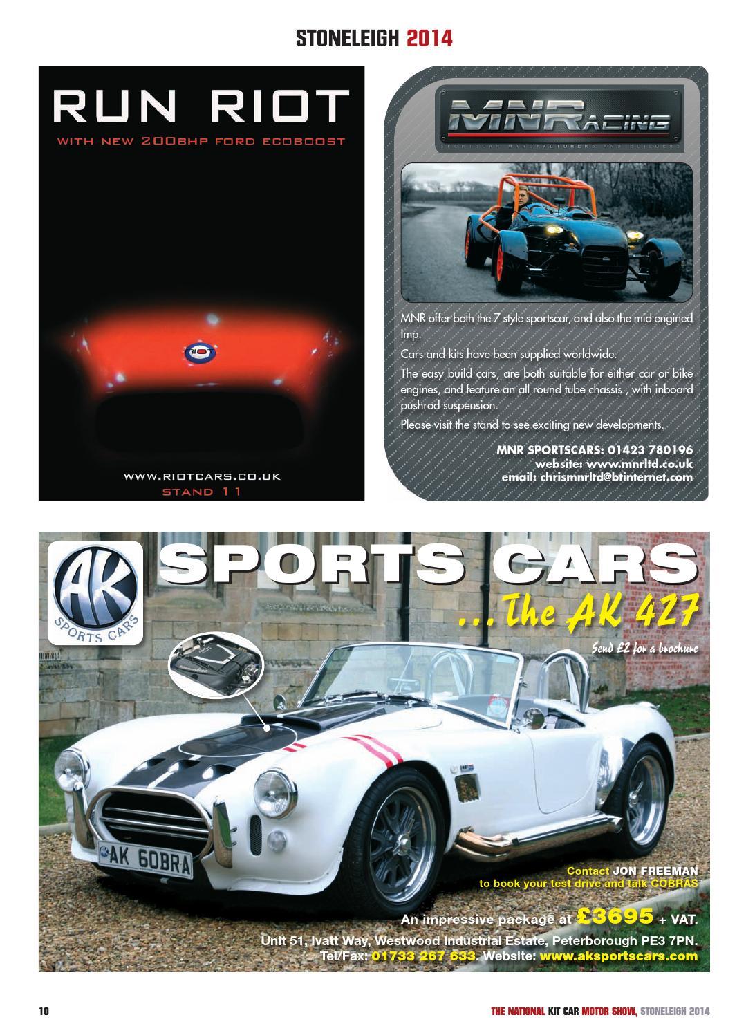 Stoneleigh National Kit Car Show Guide 2014 by Panda Creative Ltd
