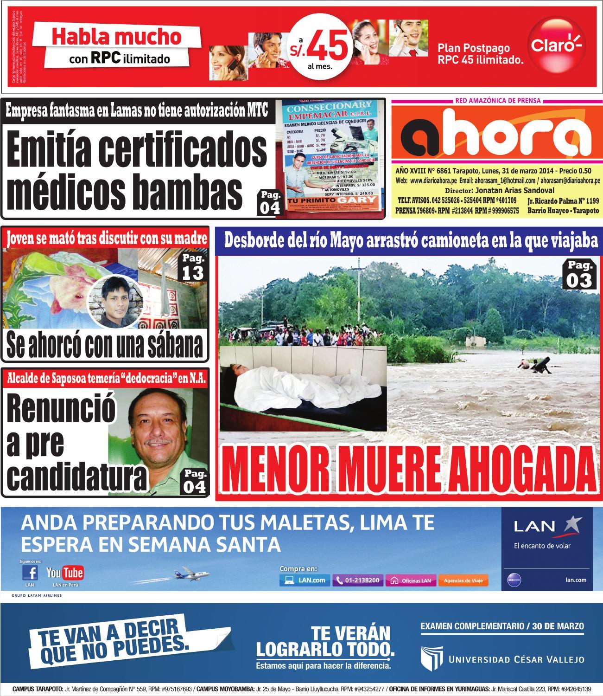 31 03 14 diario ahora tarapoto by Jonatan Arias - issuu 275d9a0f0f55f