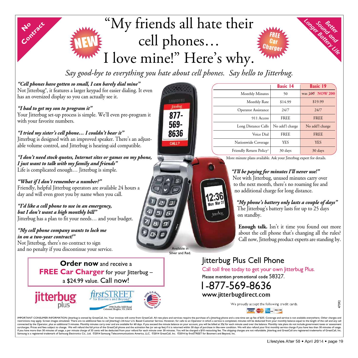 Jitterbug Phone Plans >> Lifestyles After 50 Marion Lake Sumter April 2014 Edition By