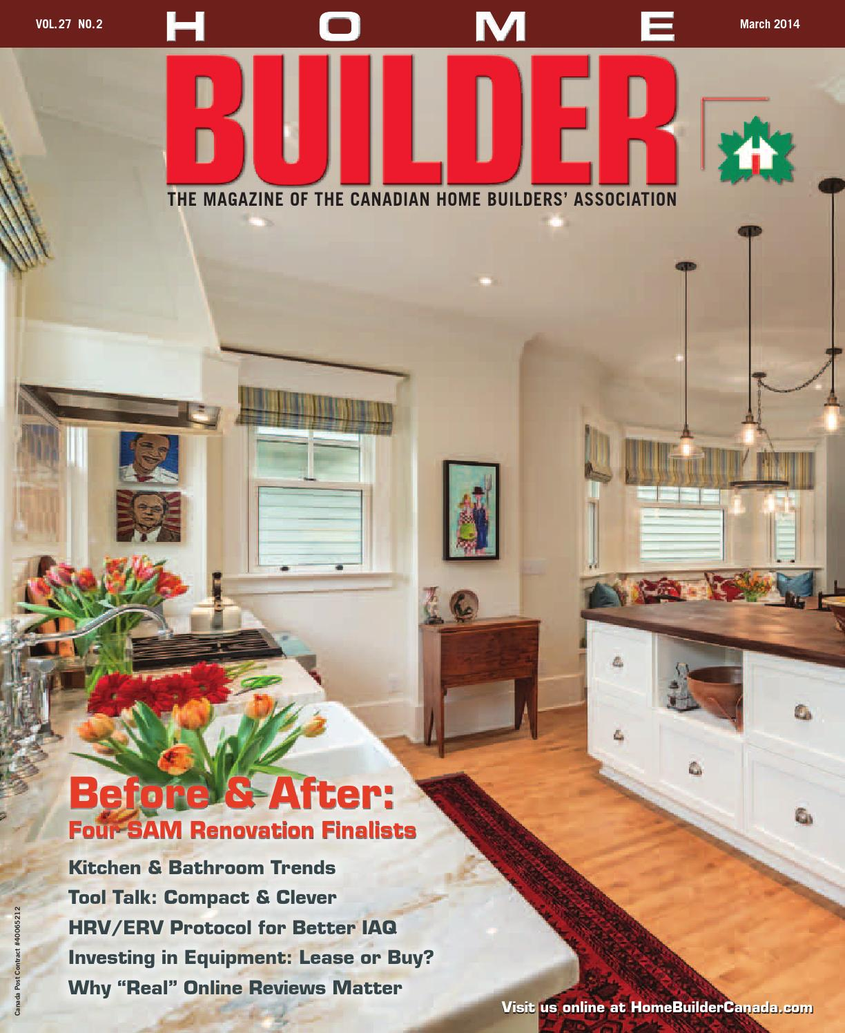 Mar apr 2014 home builder magazine canada by work4 for Home builder magazines