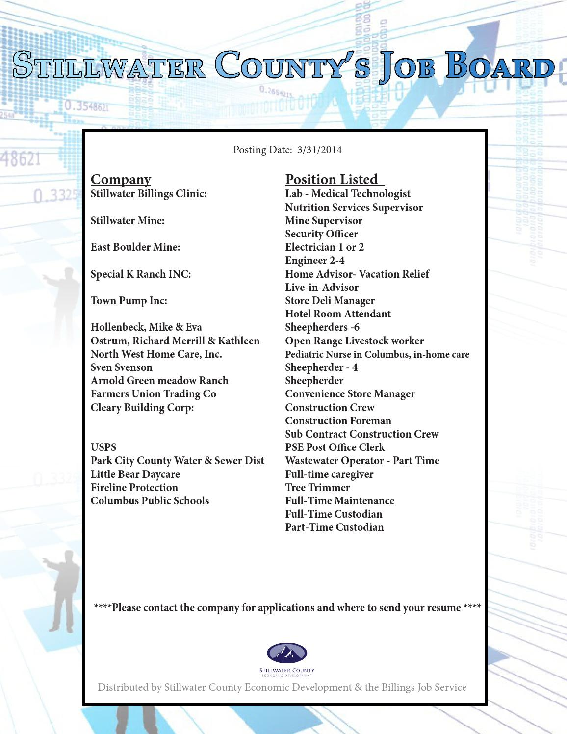 Stillwater county job board by marissa plumb issuu for Live in caregiver room and board