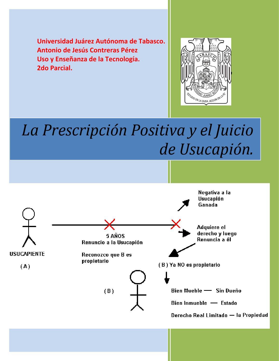 La Prescripci N Positiva Y El Juicio De Usucapion By Antonio  # Codigo Civil Muebles E Inmuebles