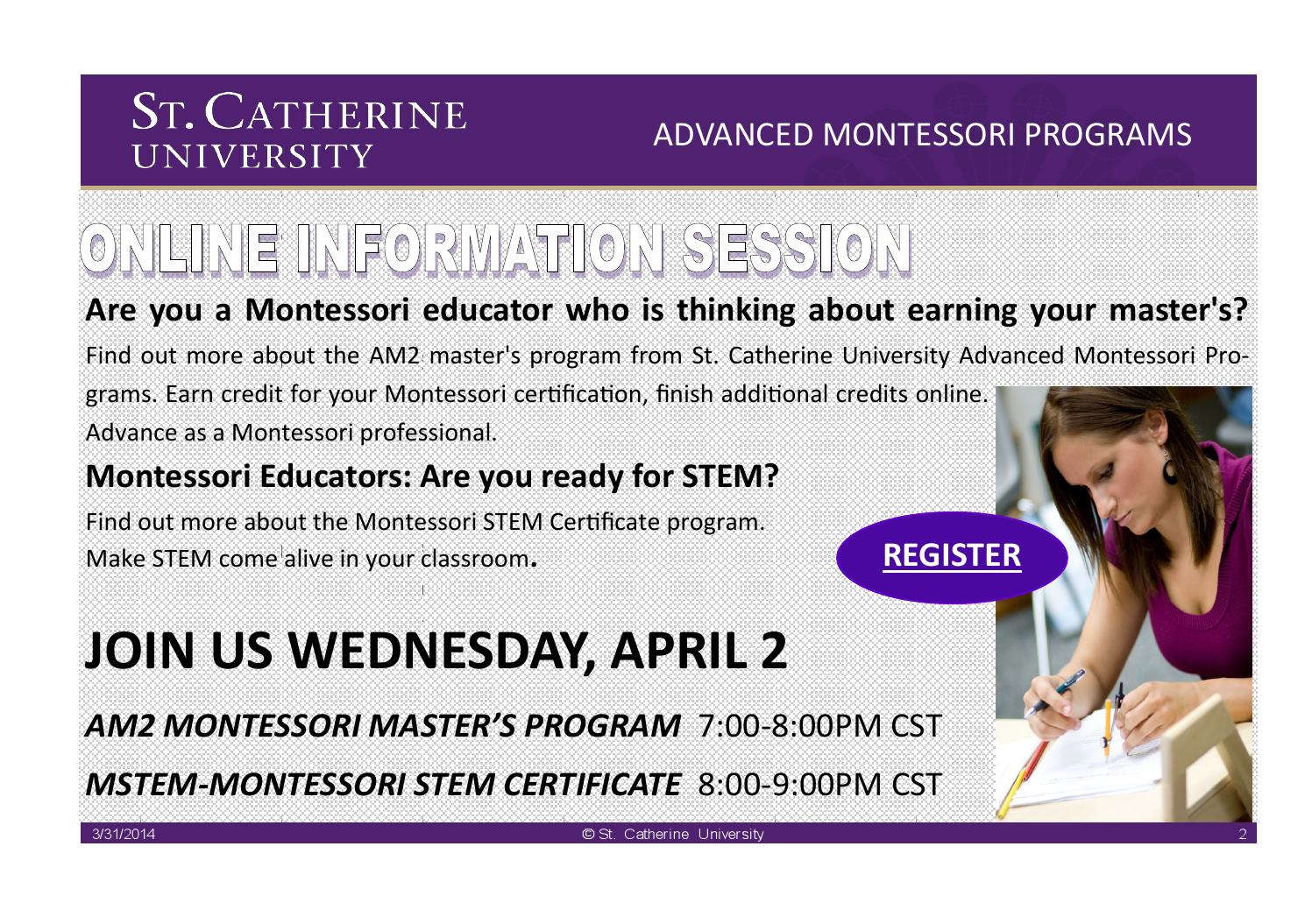 Online Information Sessions By Montessori Issuu