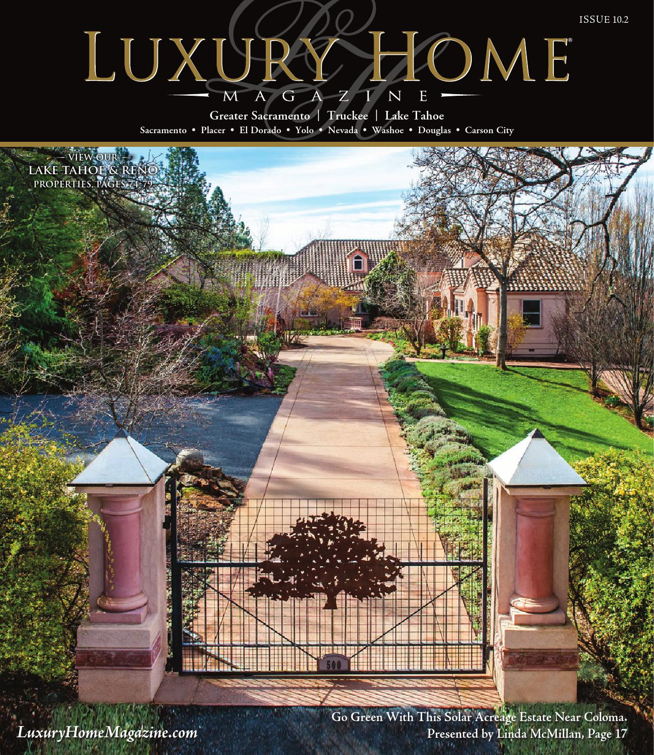 Luxury home magazine sacramento lake tahoe issue 10 2 by for Luxury home plans magazine