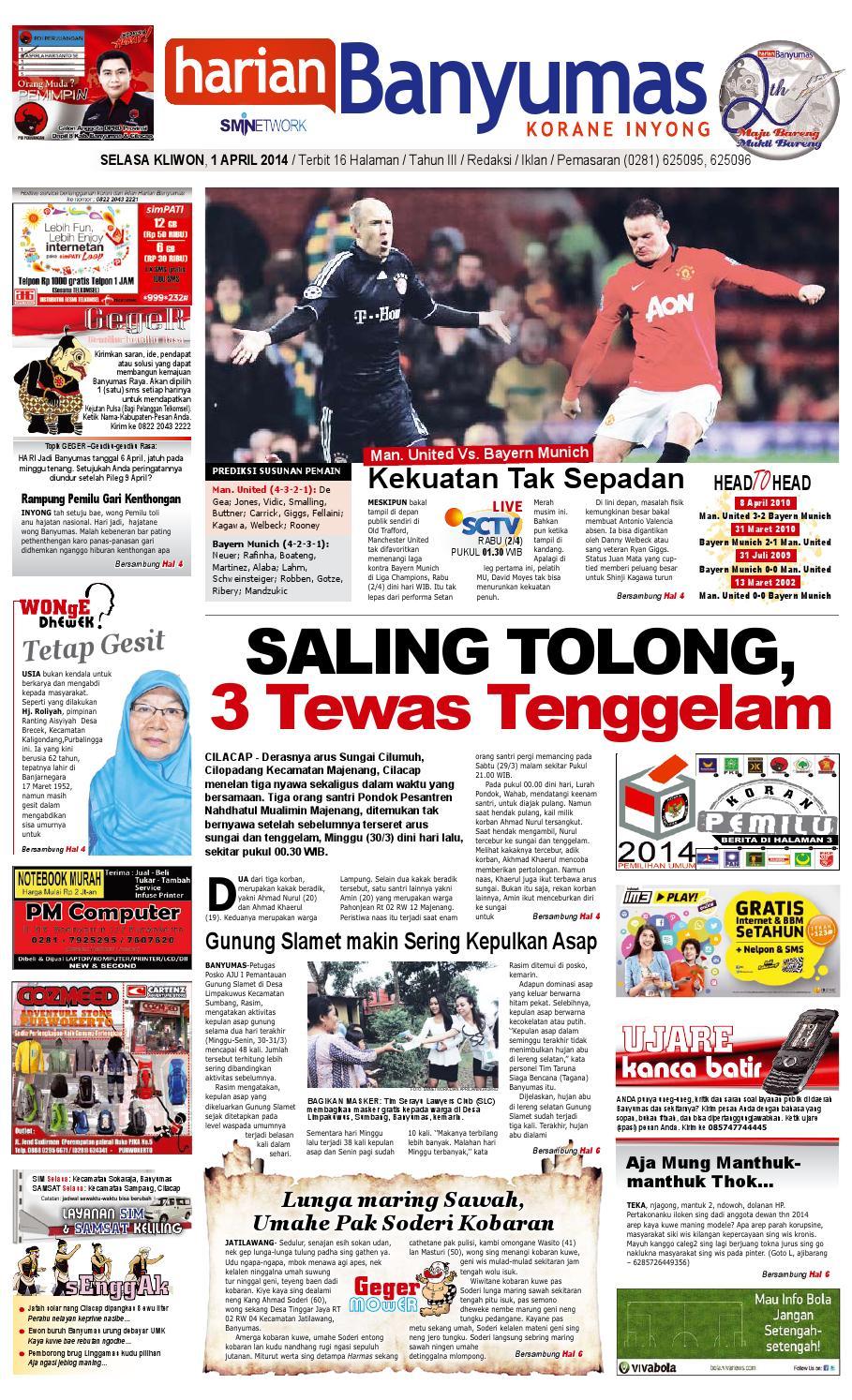 Harian Banyumas 1 April 2014 By Issuu Tcash Vaganza 34 Kripiss Medan Manis