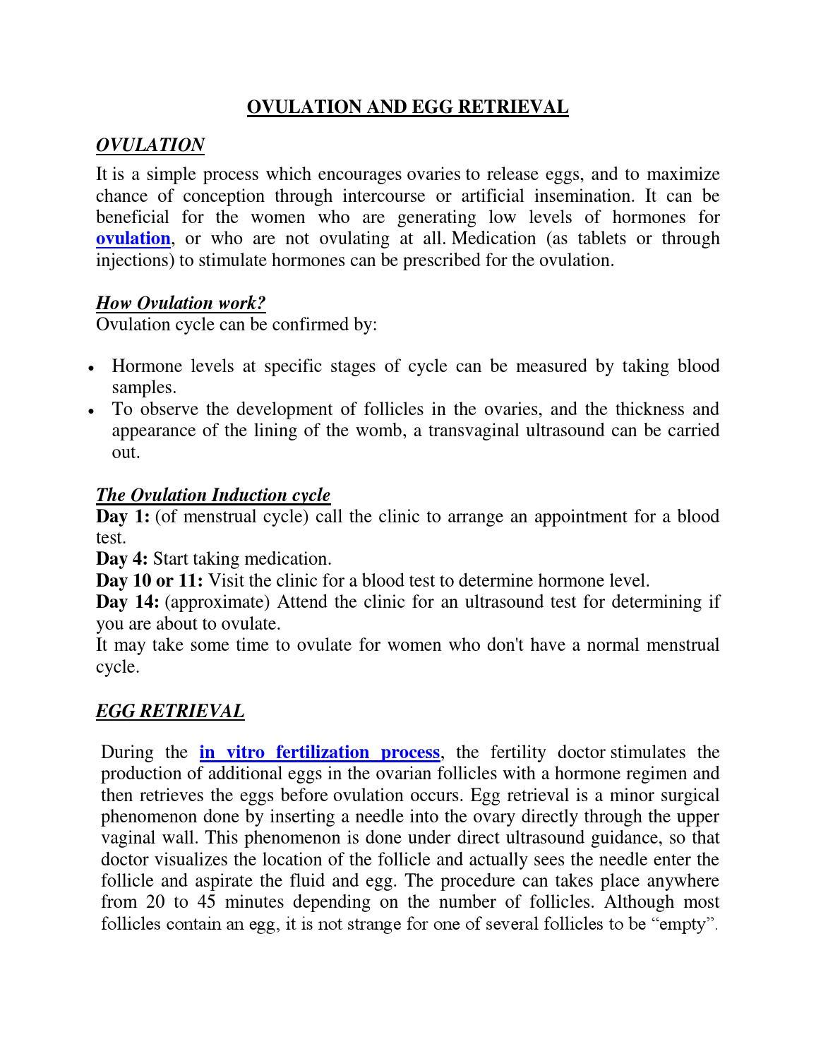 Ovulation and egg retrieval by Kunaalsingh - issuu