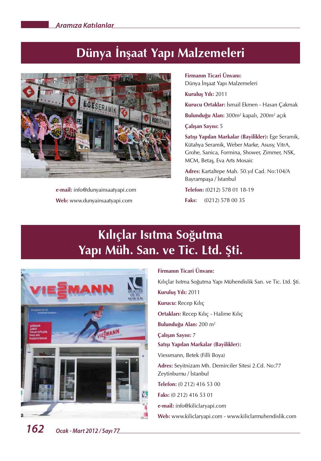 Timder Dergisi 77 Sayı By Timder Tesisat Inşÿaat Malzemecileri