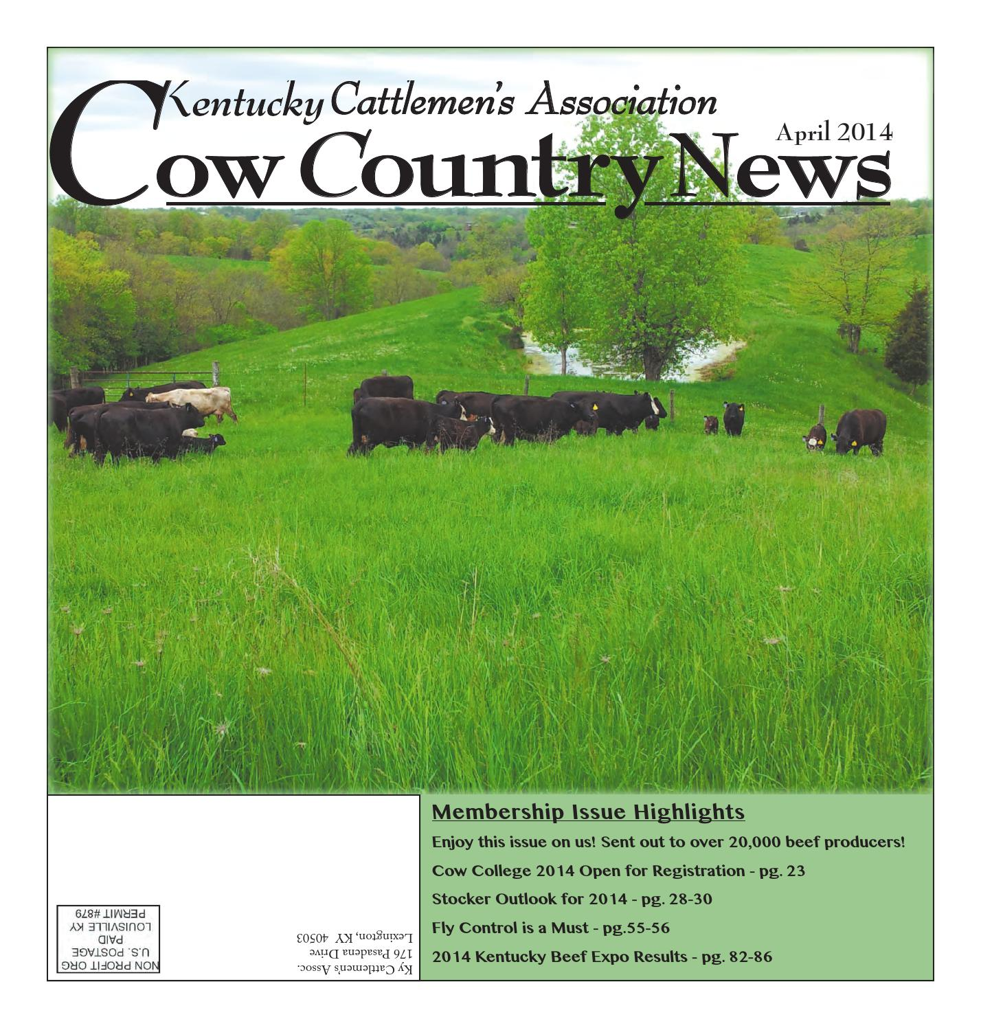 Cow Country News April 2014 by The Kentucky Cattlemen s