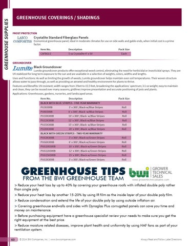 Page 62 Greenhouse Supplies