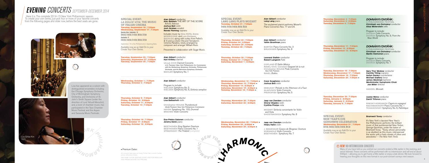 14 15 Create Your Own brochure by New York Philharmonic - issuu