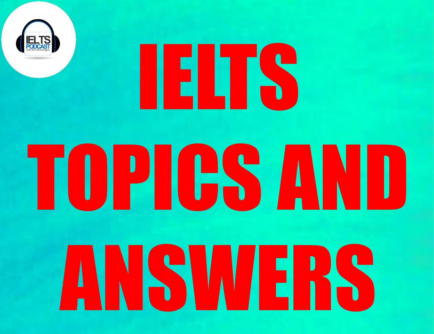 Ielts essay topic
