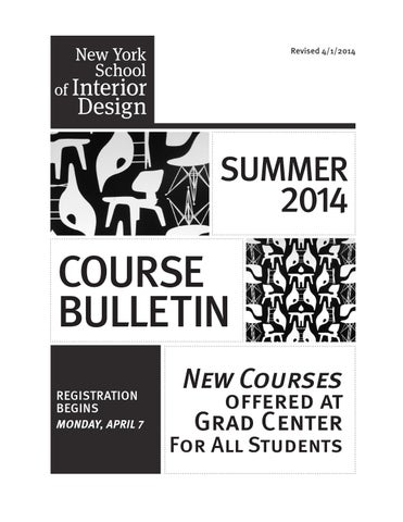Summer 2014 Course Bulletin