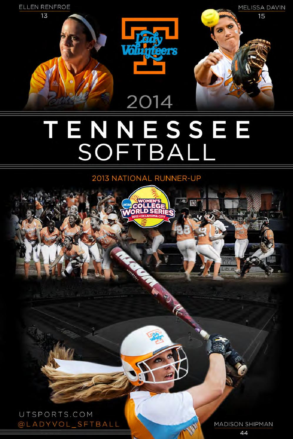 2014 Tennessee Softball Record Book by The University of
