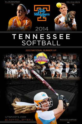 2ea2792ba89 2014 Tennessee Softball Record Book by The University of Tennessee ...