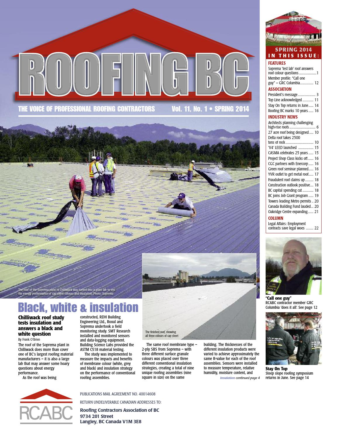 Roofing BC Spring 2014 by RCABC - issuu