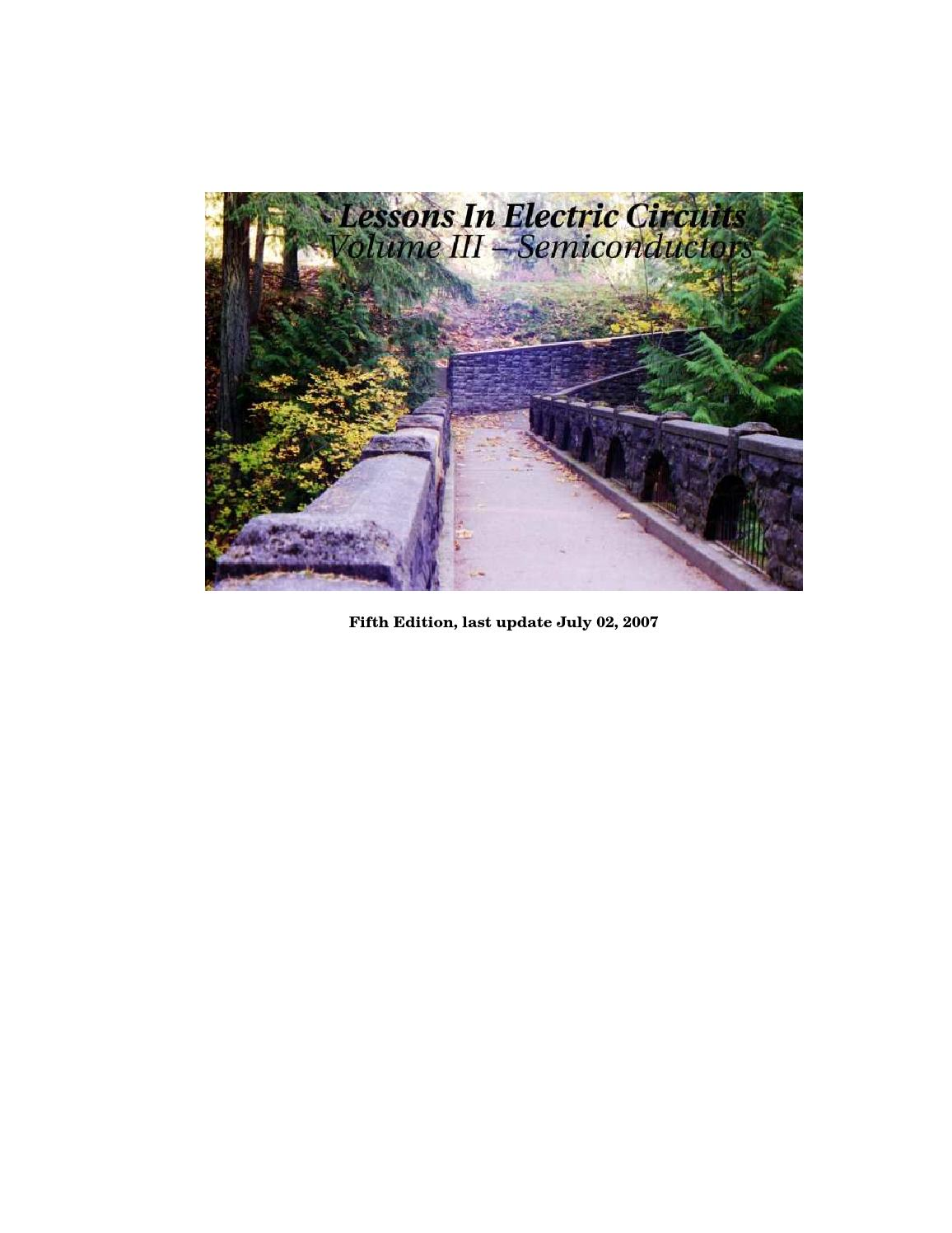 Lessons In Electric Circuits Volume Iii Semiconductors Tony R Integrator Lifier Circuit Likewise Low Drift Kuphaldt By Thataknd Issuu